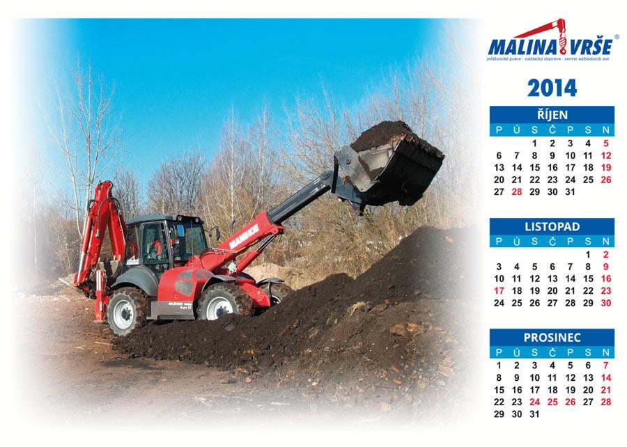 Kalendář na říjen, listopad, prosinec