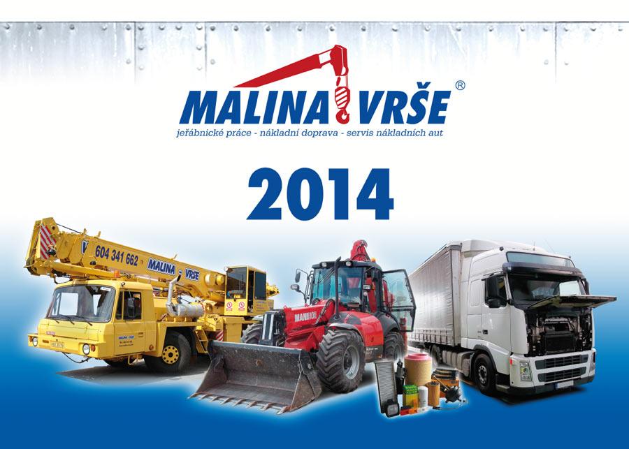 Malina Vrše - kalendář titulka