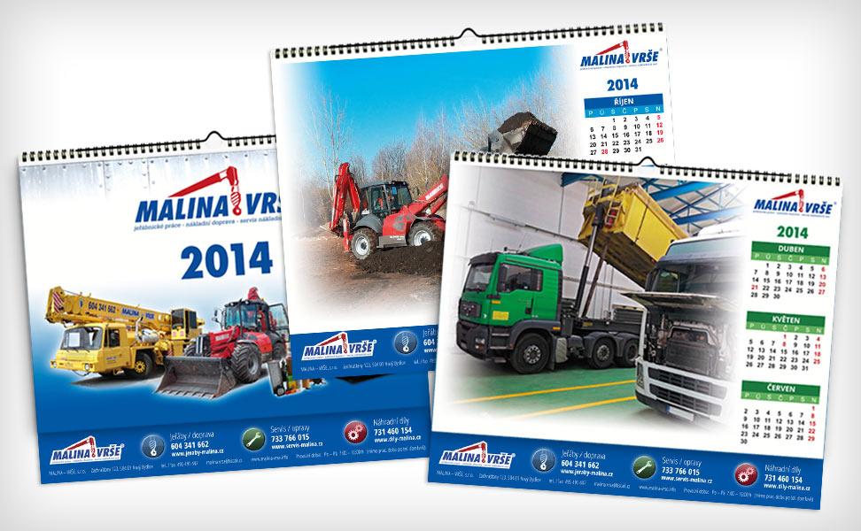 Malina Vrše - kalendáře