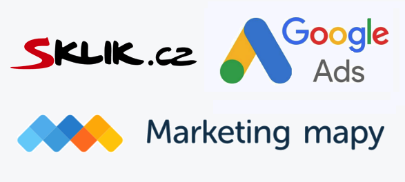Logo Sklik, Google Ads, Marketing Mapy