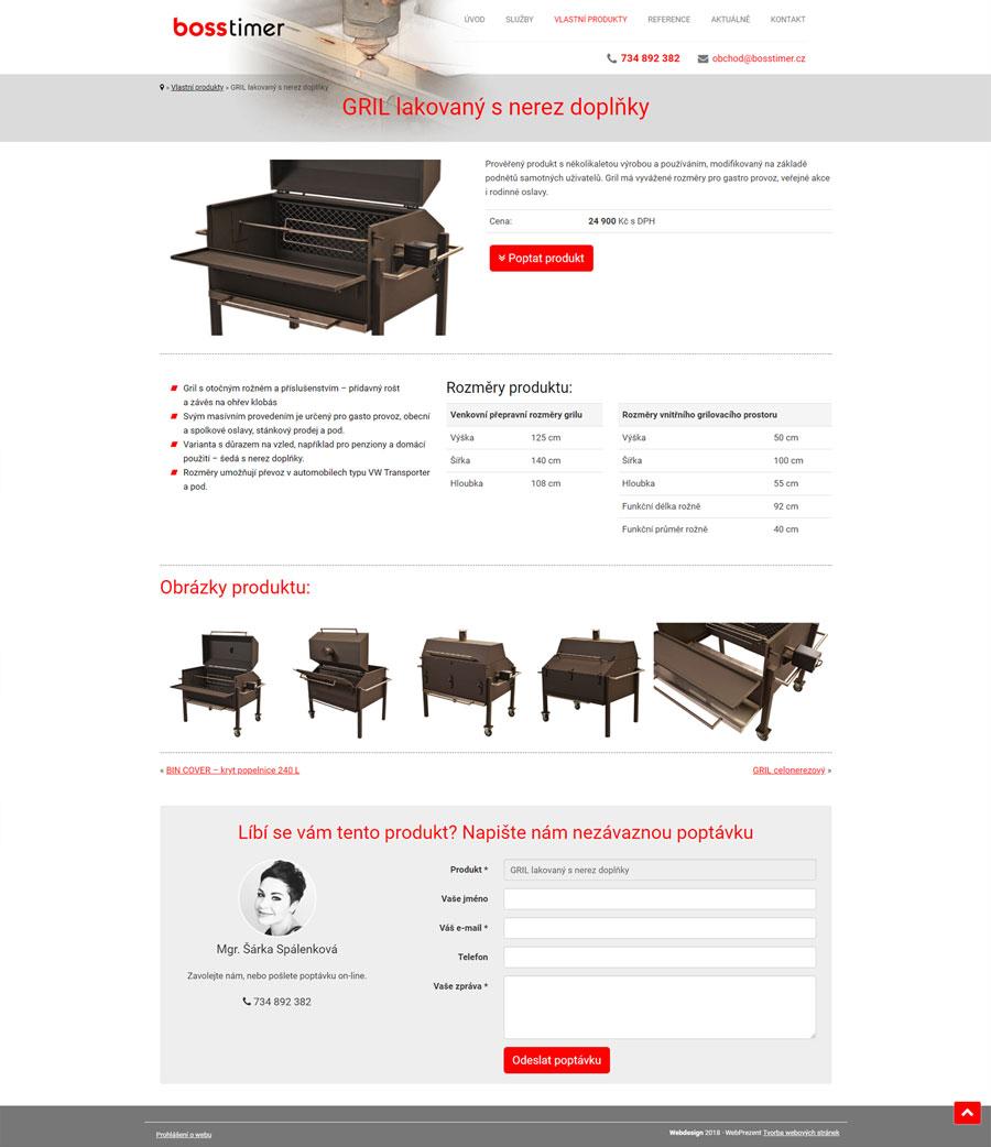 Stránka detailu produktu