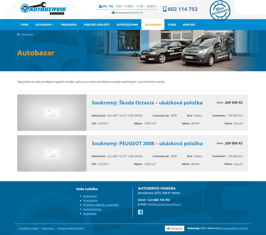 web autoservisvondra
