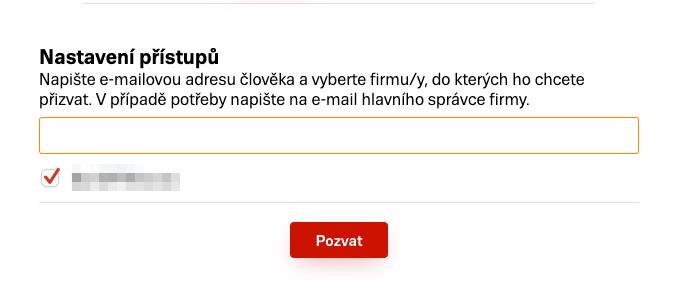 Firmy.cz - Nasdílení účtu