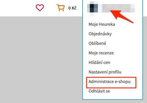 Heureka - administrace e-shopu