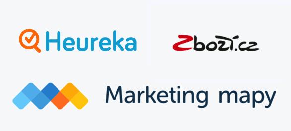 Logo Heureka, Zboží.cz, Marketing Mapy