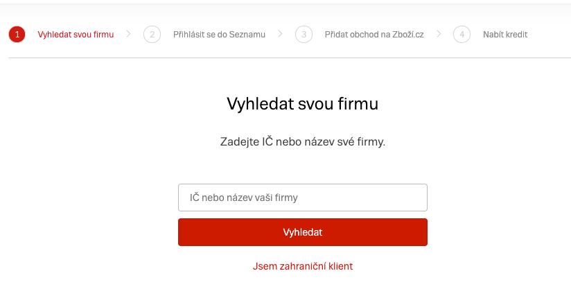 Zboží.cz - Registrační formulář