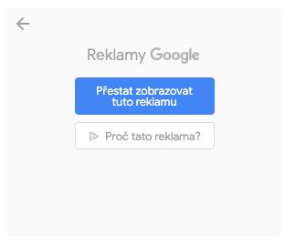 Google Ads: vypnutí reklamy