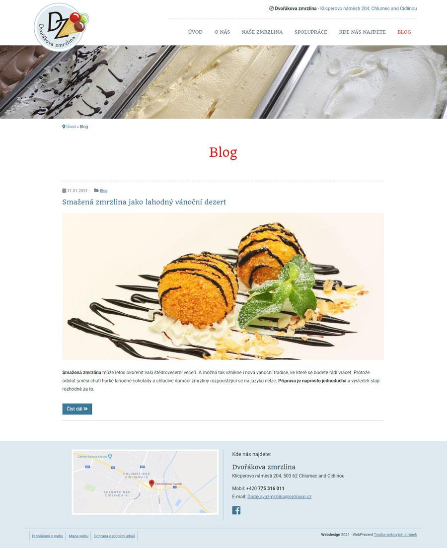 Blogová sekce webu
